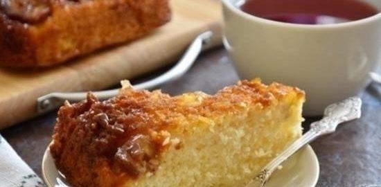 Кокосовый пирог-перевертыш с бананом и карамелью кулинарный рецепт
