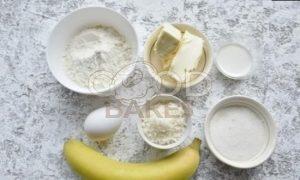 Кокосовый пирог-перевертыш с бананом и карамелью рецепт шаг 1
