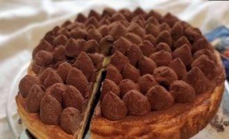 Кремовый тирамису-чизкейк кулинарный рецепт
