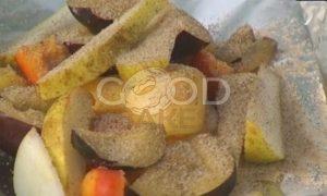 Круассаны с фруктами на гриле рецепт шаг 3