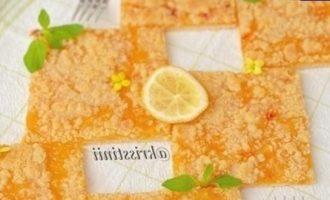 Лимонные квадратики кулинарный рецепт