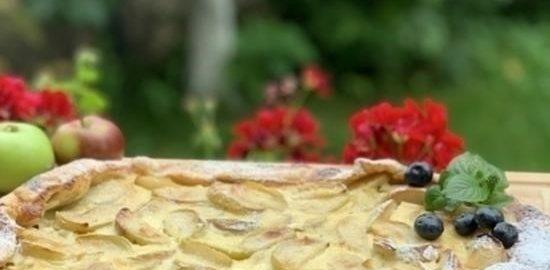Любимый яблочный пирог Пушкина кулинарный рецепт