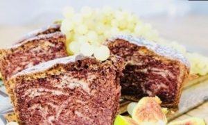 Мраморный пирог «Зебра» кулинарный рецепт