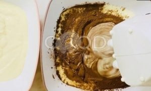 Мраморный пирог «Зебра» рецепт шаг 5