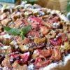 Пирог с ревенем в пудинговой заливке кулинарный рецепт