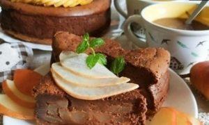 Шоколадно-грушевый чизкейк кулинарный рецепт