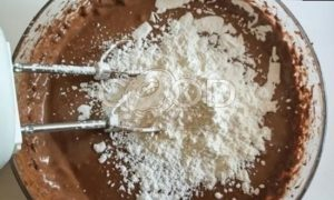 Шоколадно-грушевый чизкейк рецепт шаг 3