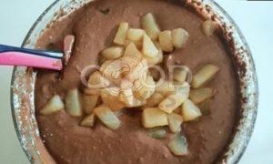 Шоколадно-грушевый чизкейк рецепт шаг 4