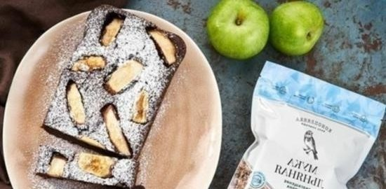 Шоколадный кекс с яблоком кулинарный рецепт