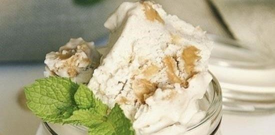 Сливочное мороженое с арахисовой пастой кулинарный рецепт