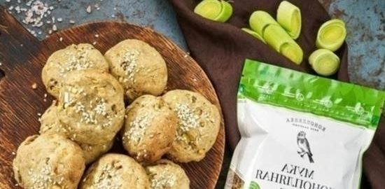 Сырные булочки с луком-пореем кулинарный рецепт