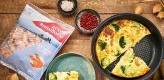 Фриттата с креветками и брокколи кулинарный рецепт