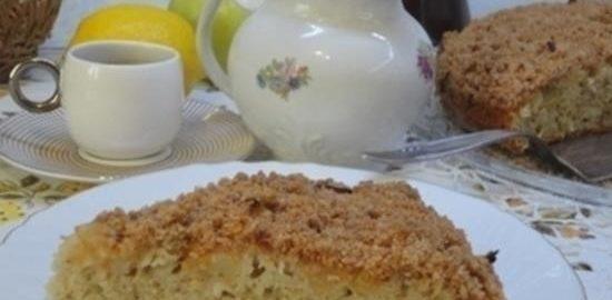 Яблочный пирог на газированной воде со штрейзелем кулинарный рецепт