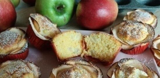 Маффины с яблоком и кокосом кулинарный рецепт