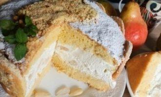 Миндально-грушевый торт кулинарный рецепт