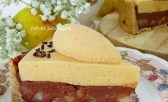 Шоколадно-грушевый тарт с кремом шибуст кулинарный рецепт