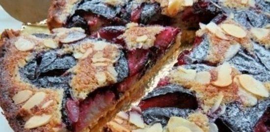 Тарт со сливами и франжипаном кулинарный рецепт