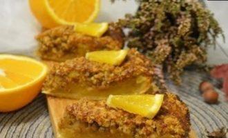Тыквенный пирог с грецкими орехами и апельсином кулинарный рецепт