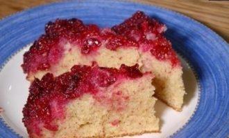 Вишневый пирог-перевертыш кулинарный рецепт