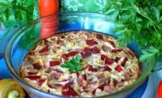 Запеканка с грибами и купатами кулинарный рецепт