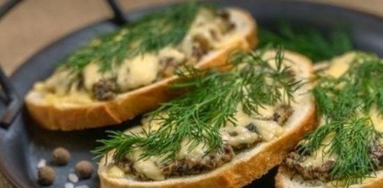 Бутерброды а-ля жюльен кулинарный рецепт