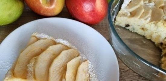 Яблочный пирог в микроволновой печи кулинарный рецепт