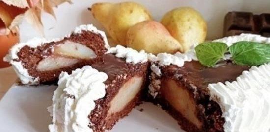 Кекс «Груша в шоколаде» кулинарный рецепт