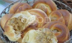 Орехово-сырные розочки рецепт шаг 5