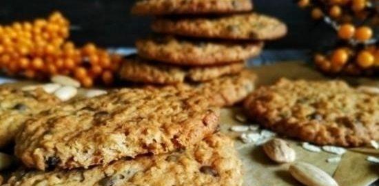 Овсяное печенье с миндалем и медом кулинарный рецепт
