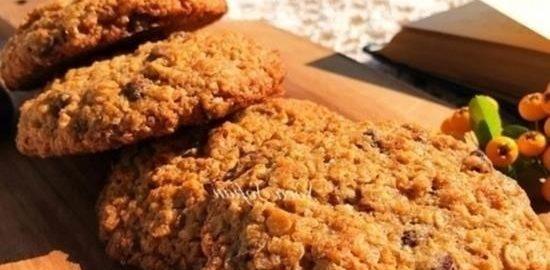 Овсяное печенье с шоколадом кулинарный рецепт