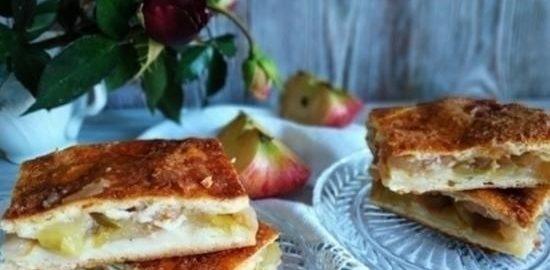Пирог с яблоками кулинарный рецепт