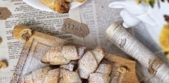 Рогалики с ореховой начинкой кулинарный рецепт