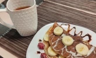 Сладкий овсяноблин с бананом кулинарный рецепт