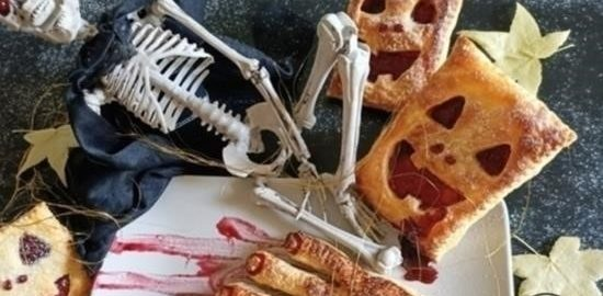 Слоеное печенье для Хеллоуина кулинарный рецепт
