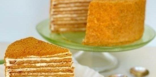 Торт «Медовик» кулинарный рецепт