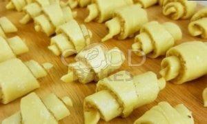 Творожные рогалики с ореховой начинкой рецепт шаг 7