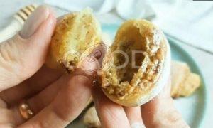 Творожные рогалики с ореховой начинкой рецепт шаг 9