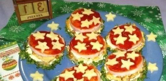 Бутерброды «Новогодние» кулинарный рецепт