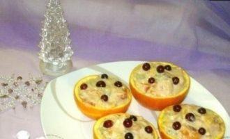 Фруктовый салат в апельсиновых «корзинках» кулинарный рецепт