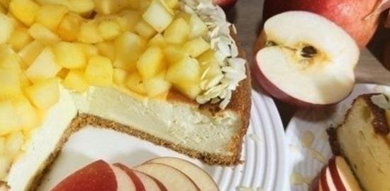 Миндальный чизкейк с яблоками кулинарный рецепт