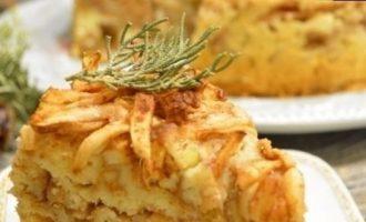 Насыпной яблочный пирог кулинарный рецепт