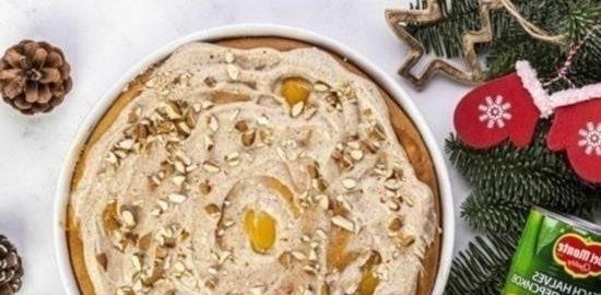 Пирог с персиками и миндалем кулинарный рецепт