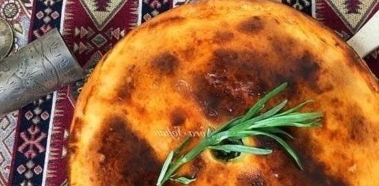 Пирог с сулугуни и зеленью кулинарный рецепт
