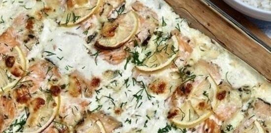Радужная форель, запеченная в сливках кулинарный рецепт