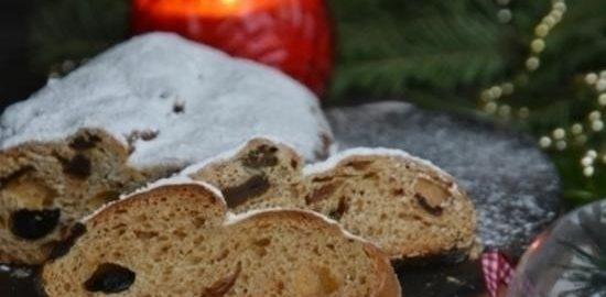 Рождественский дрожжевой штоллен кулинарный рецепт