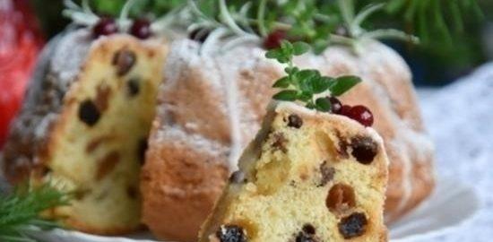 Рождественский кекс кулинарный рецепт