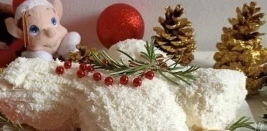 Рулет «Полено под снегом» кулинарный рецепт
