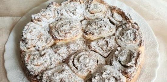 Слоеный пирог с рикоттой кулинарный рецепт