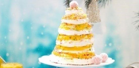 Торт-безе «Елка» с тропическим курдом кулинарный рецепт