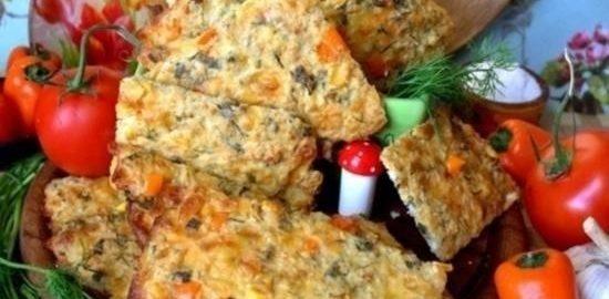 Творожные галеты с кукурузой и паприкой кулинарный рецепт